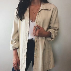 Jackets & Blazers - TUSCAN woven silk chore jacket